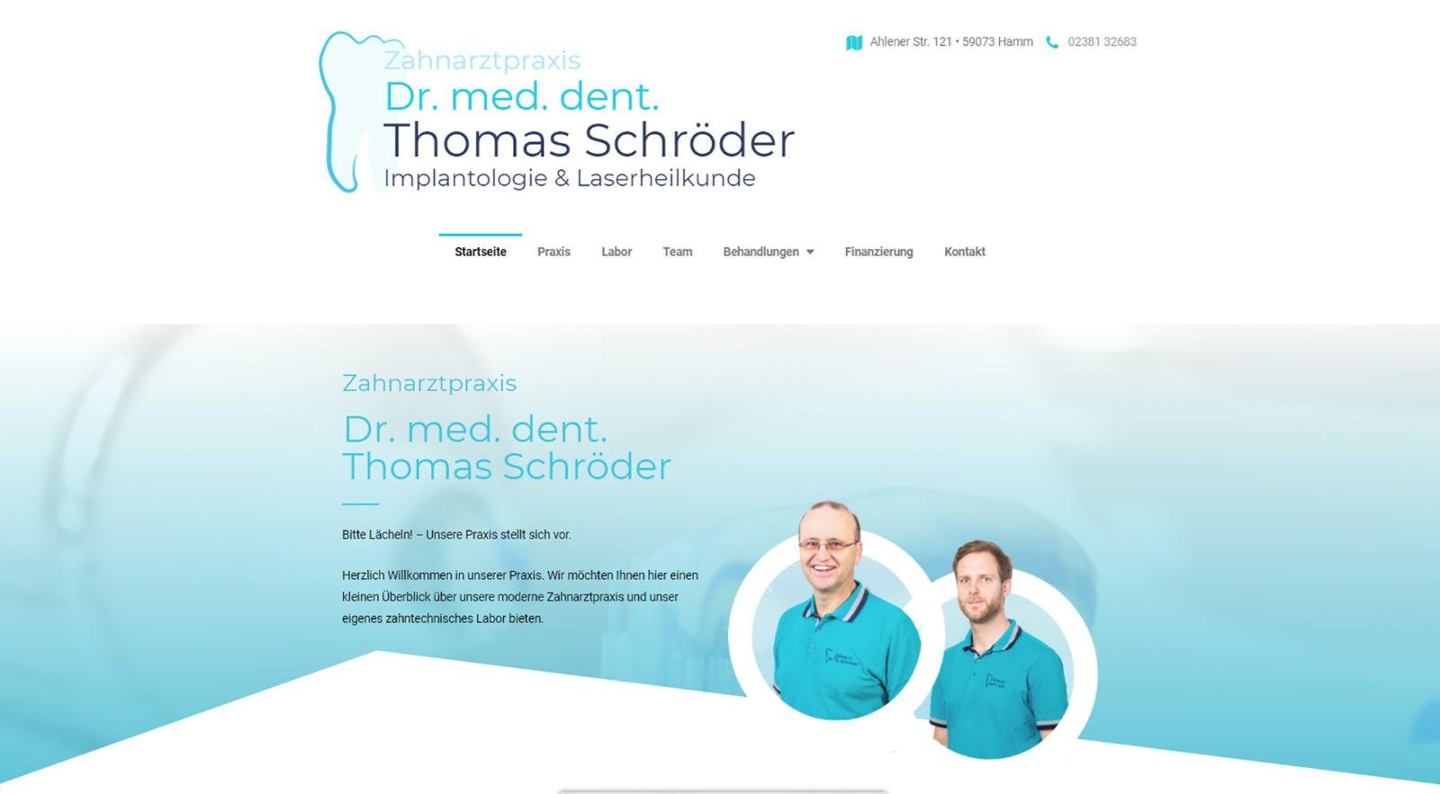 Zahnarztpraxis Dr. med. dent. Thomas Schröder Implantologie & Laserheilkunde Hamm Zahnarztpraxis