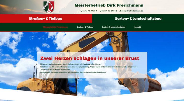 Meisterbetrieb Dirk Frerichmann Garten-& Landschaftsbau + Straßen- & Tiefbau Drensteinfur Walstedde